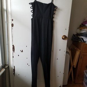 NWT Black Spaghetti String Jumpsuit with open side